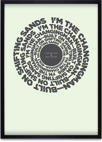 Lyrics from Paul Weller song. Clever poster by Ken Lyons.