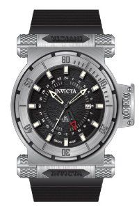 Invicta Coalition Forces GMT Black Dial Stainless Steel Mens Watch 12684 Invicta. $303.85. Water resistant up to 100 meters (330 Feet). Date window at the 3:00 Position. Stainless Steel Case with Polyurethane Strap. Swiss Quartz movement
