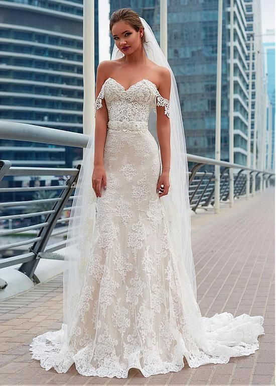 Magbridal Fabulous Lace Off-the-shoulder Neckline Mermaid Wedding Dress With Lac…