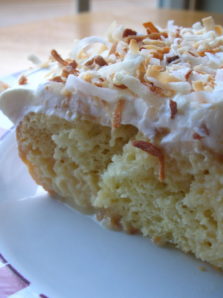Toasted Coconut Tres Leches Cake.