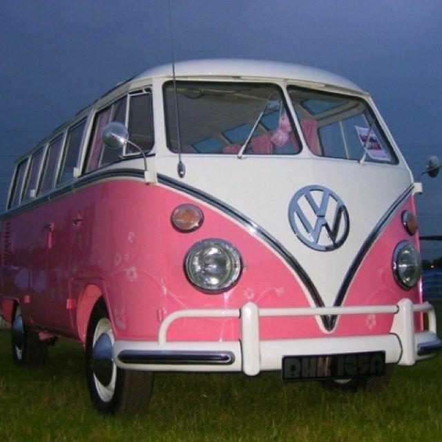 Pink volkswagen van