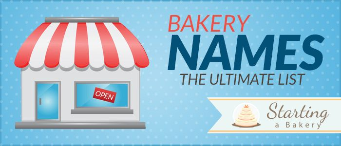 87 Cute, Creative, Clever & Funny Bakery Names