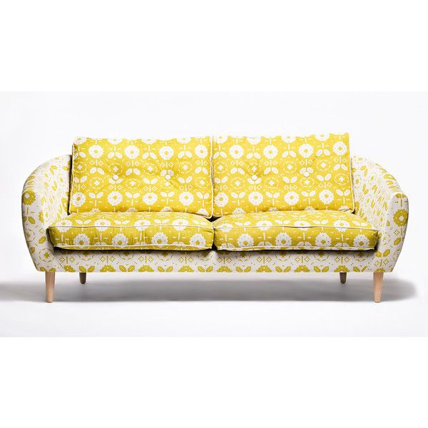 Mabel Sofa by Donna Wilson ($7,495) ❤ liked on Polyvore featuring home, furniture, sofas, couch, yellow couch, euro furniture, yellow furniture, european sofa and donna wilson