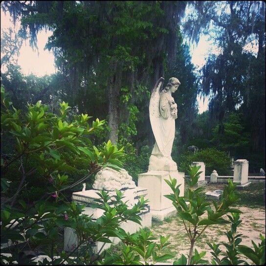Weeping angel ~ Bonaventure Cemetery (Savannah, GA) ~ photo by:  j . l . h .