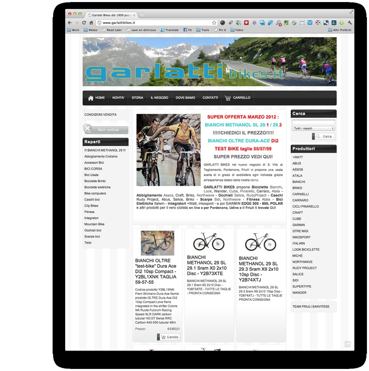 Www Garlattibikes It Web Design Marketing E Commerce