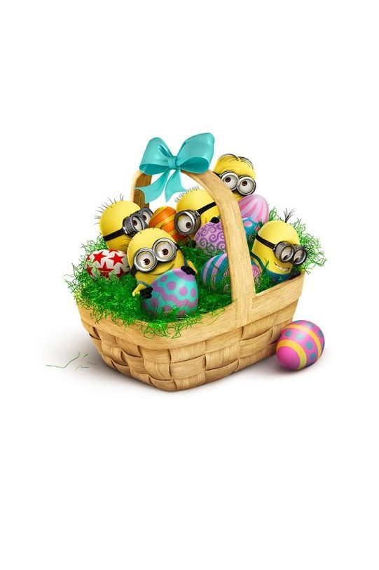 Minions getting ready for Easter.