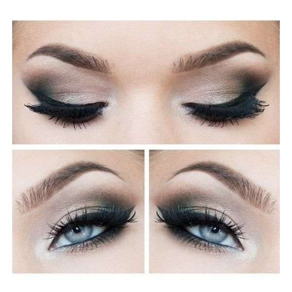 Smokey eyes and Eyeliner Best Make-up for Blue eyes Beauty ❤ liked on Polyvore featuring beauty products, makeup, eye makeup, eyeliner, eyes, beauty and make