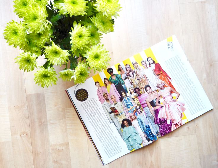 My kind of Sunday in a flatlay. Fresh flowers and catching up with some Milan Fashion Week reading from Grazia.
