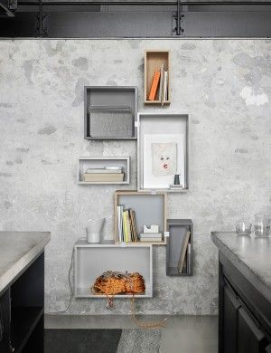 Endless storage possibilities for your home. Creative storage solutions by Muuto. Workspace storage idea.