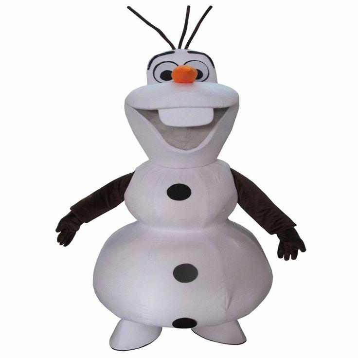 Fantasia In 2015, The Latest Warmest Smile Olaf Mascot Costume Adult Cartoon Walking Cosplay Custom Clothing Free Shipping