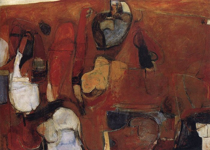 Brett Whiteley, Untitled Red Painting, 1960 You could see it all in his early paintings, just waiting to break out...