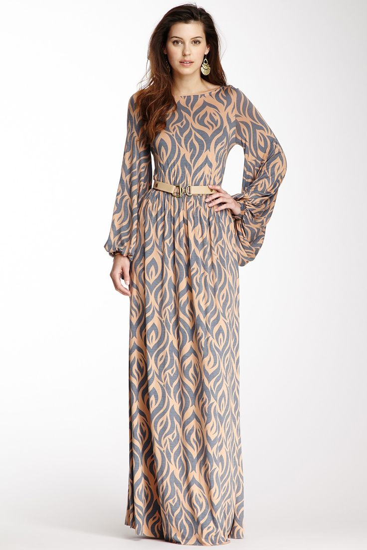 Claris Long Sleeve Dress on HauteLook with a belt