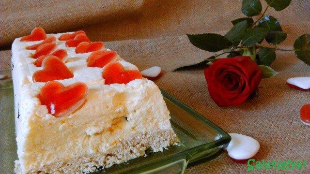 Diétás túrótorta sütés nélkül, zabpelyhes alappal