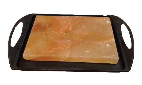 Himalaya salt block can be used for grilling, chilling, baking, salting, plating, bathing and contemplating.