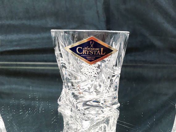 WHISKEY VODKA COGNAC SET 6 Shot Glass Clear Aurum-Crystal Czech Republic Shot Glass - 2 oz / 60ml H 2 1/4 D - 2 It is BRAND NEW set, Aurum - Crystal s.r.o. is a leading manufacturer in the Czech glass industry. The company produces Bohemian crystal which is hand-blown and hand-cut.