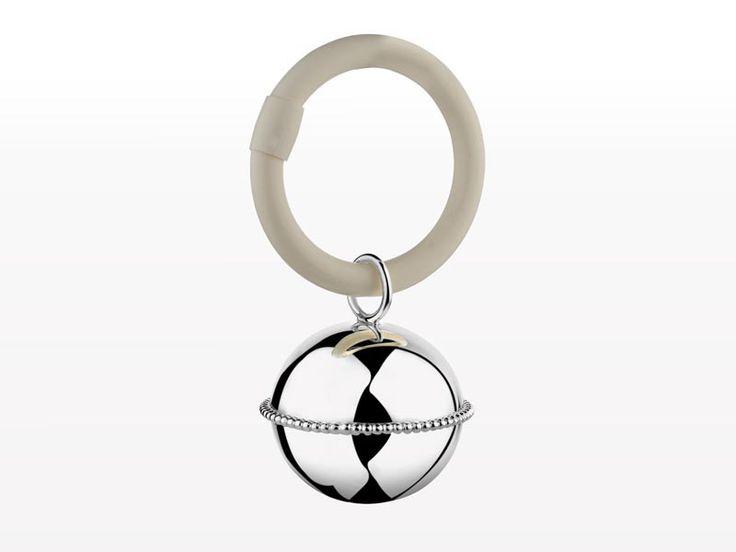 Grzechotka niemowlęca B90 Zilverstad Ball Pearl Ring