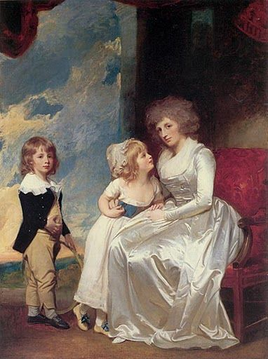 Countess of Warwick and Children by George Romney, ca. 1787: