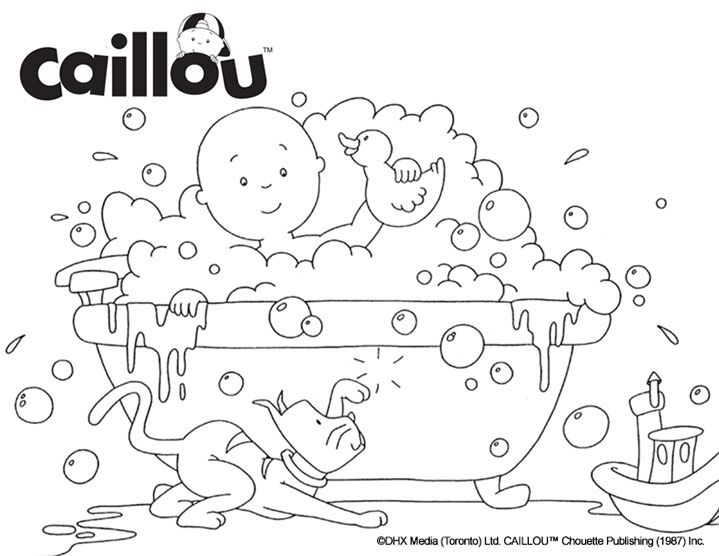caillou coloring sheet bubble the fun - Caillou Gilbert Coloring Pages