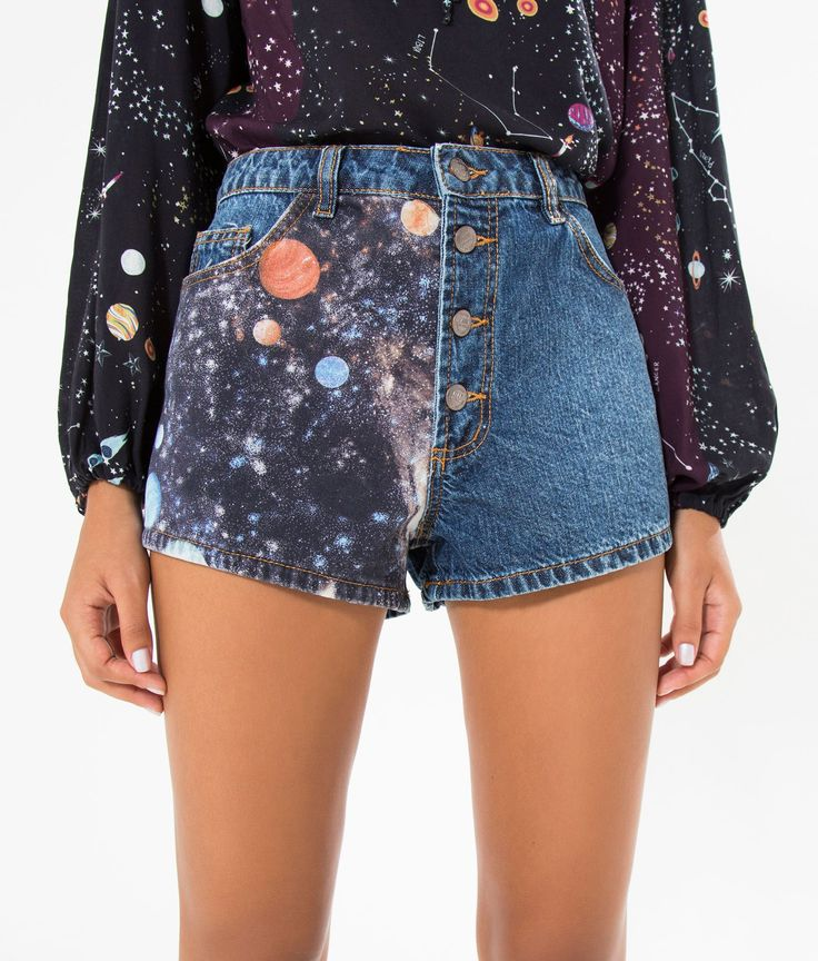 short jeans patch saturno