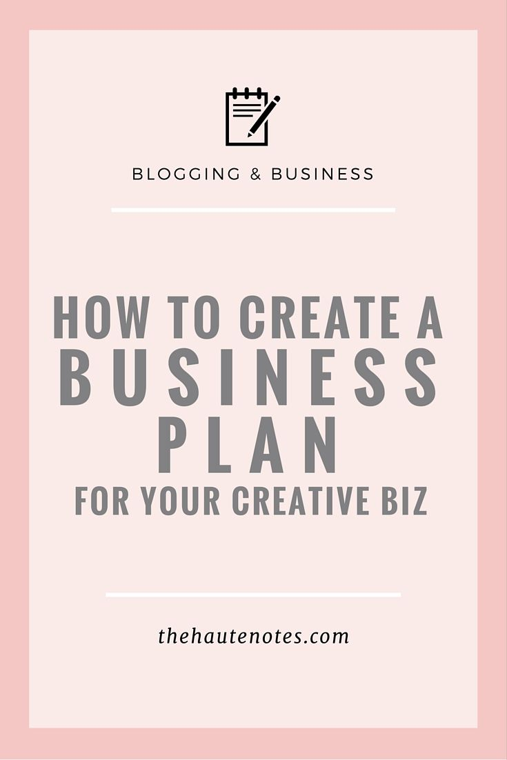 how to you write a business plan