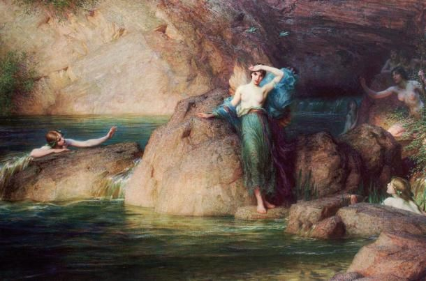 'Halcyone' by Herbert James Draper, 1915.: