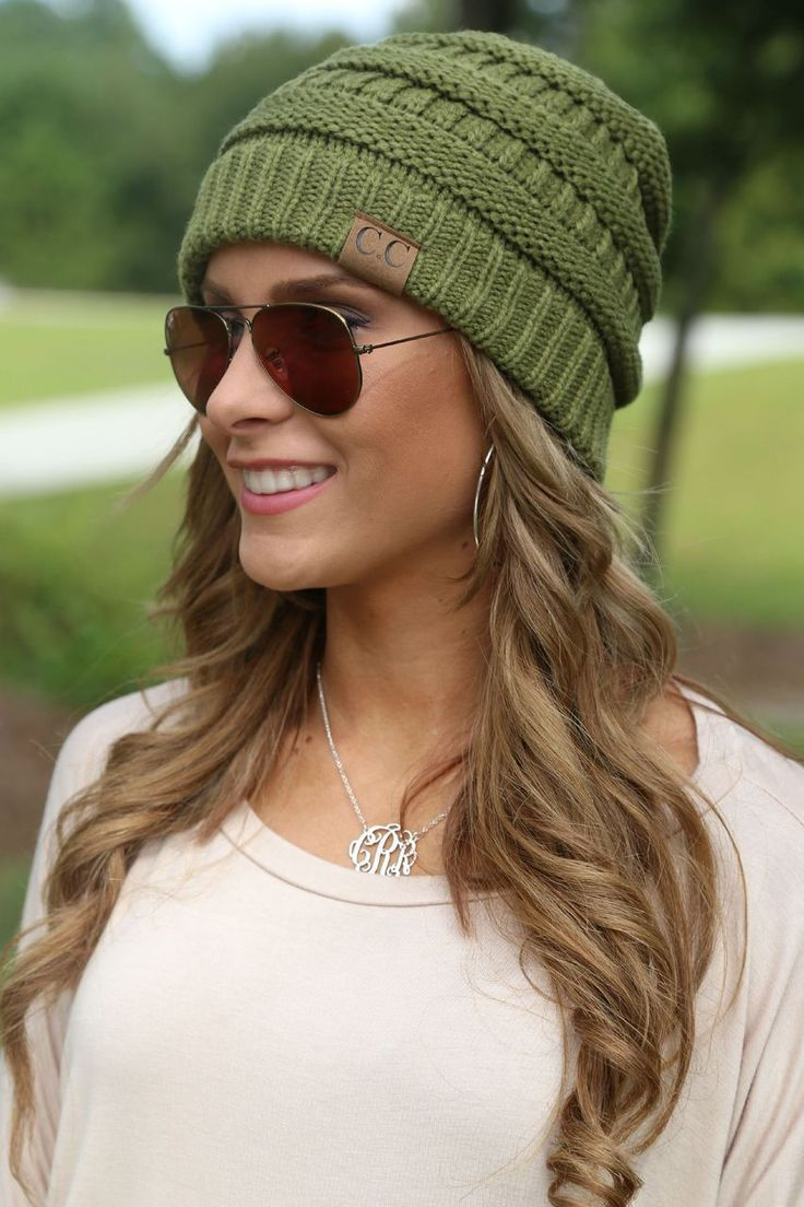 CC Beanie olive | off the racks boutique