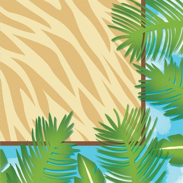 Check out Wild Safari Beverage Napkins - Bargain Themed Tableware from Wholesale Party Supplies