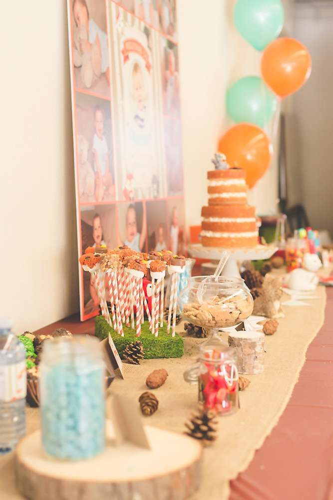 Cristian's Woodland One-derland Birthday Party | CatchMyParty.com