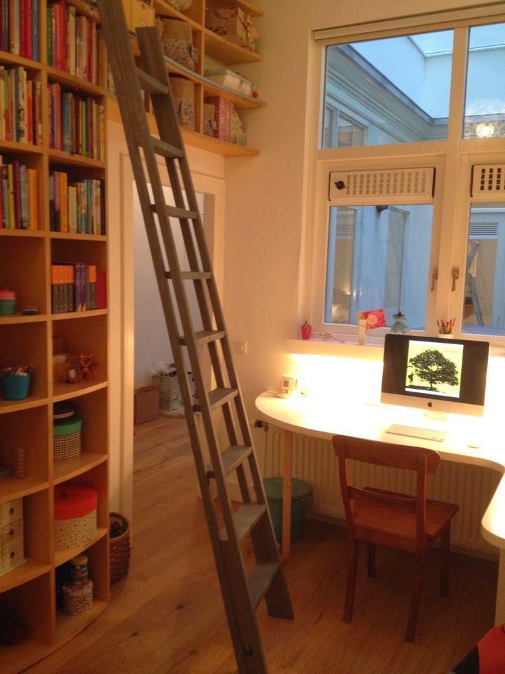 Bibliotheekladder annex stapelbedladder