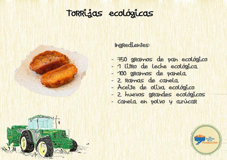 #Receta #ecológica. Torrijas ecológicas.