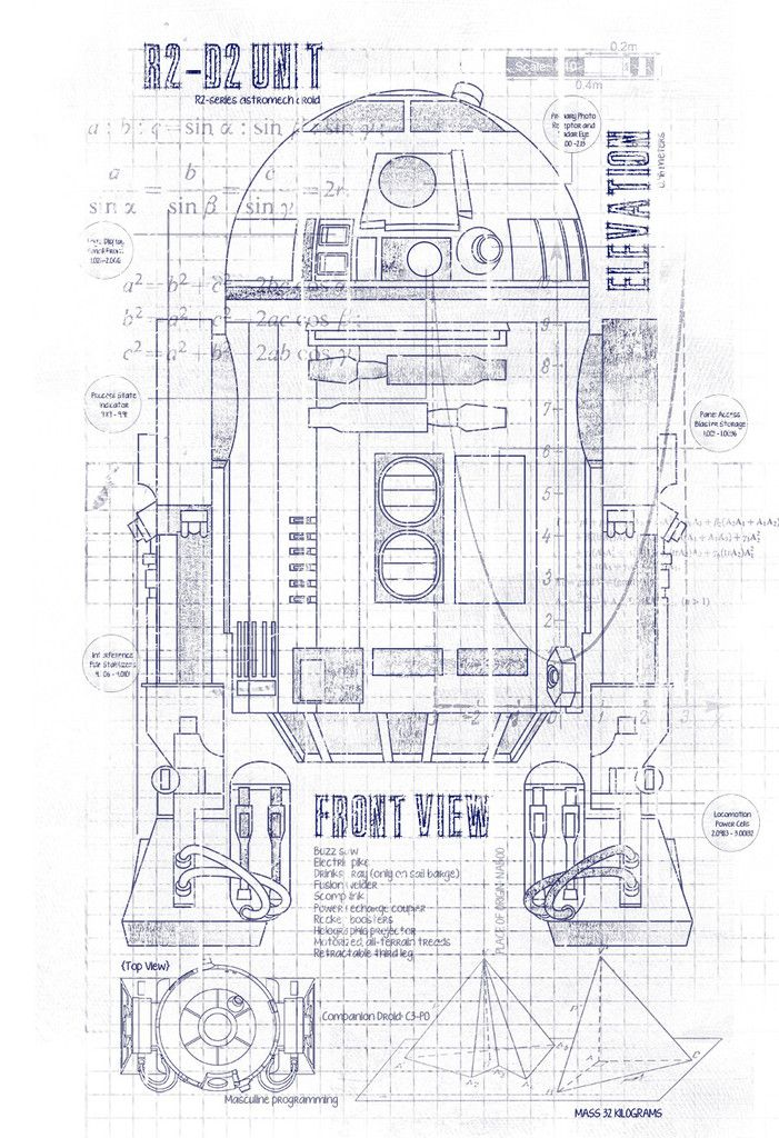 R2d2 Blueprints T Shirt Crawlspace Studios Project R2
