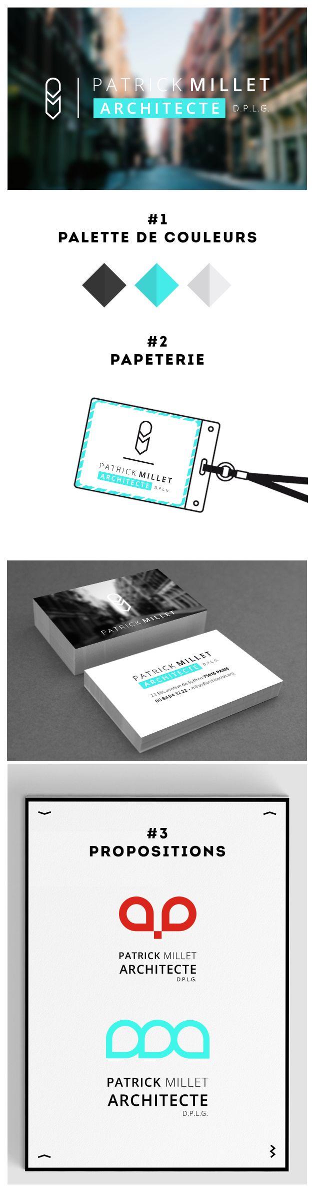 patrick millet #architecte #identite #visuelle #logo #graphisme #graphic #design #logotype