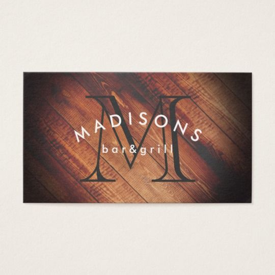 Rustic Wood with Monogram Business Card #monogram #makeup #artist #hairstylist #esthetician #interior #designer #wood #panel #rustic #wood #restaurant #owner #distillery #etsy #shop #entrepreneur #freelance #owner #initial #letter #cool #spa #elegant #stylish #hair #designer #aesthetician #arc #text #rustic #wood #natural #vintage #shabby #grunge #handmade #brewery #beer #maker #graphic #design #barn #wood #country #distressed #wood #wood #craft #jewelry #maker #boutique
