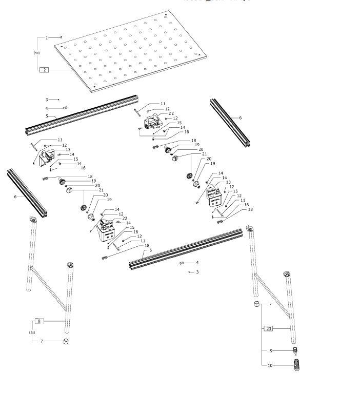 Festool MFT3  495314  Multifunction Table Parts