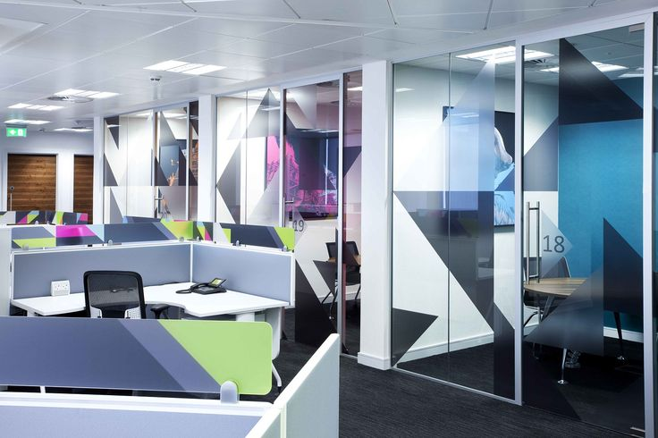 Printed Window Graphics For Office Interiors And