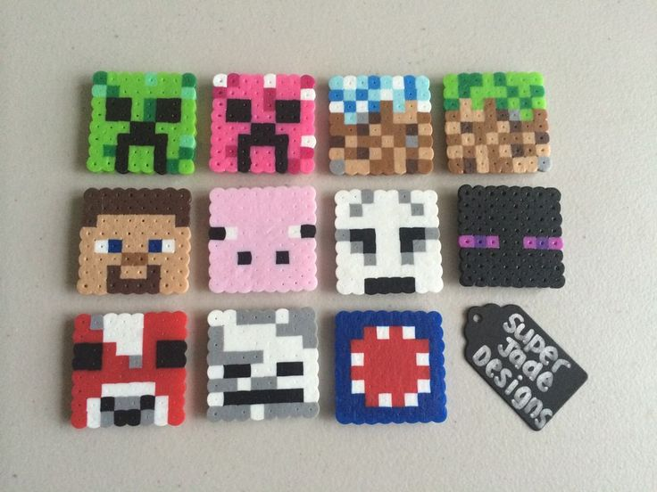 Minecraft Character Squares - Magnets. via SuperJade Designs. Click on the image to see more!
