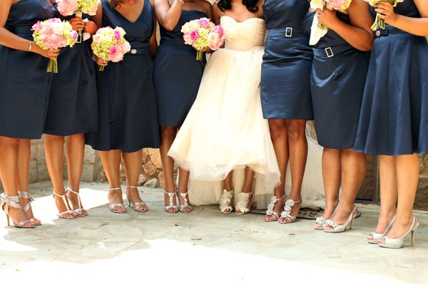 A perfect pink navy southern wedding by abj photography for What color shoes with navy dress for wedding