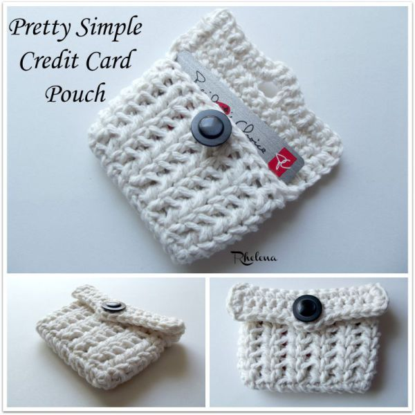 Pretty Simple Credit Card Pouch - CrochetN'Crafts
