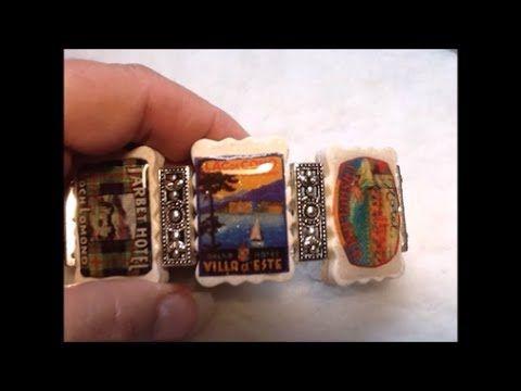 polymer clay bracelet tiles