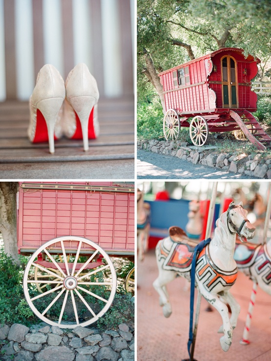gypsy carnival wedding inspiration - vintage wedding