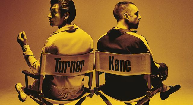 Alex Turner and Miles Kane photo for Last Shadow Puppets 2nd album.