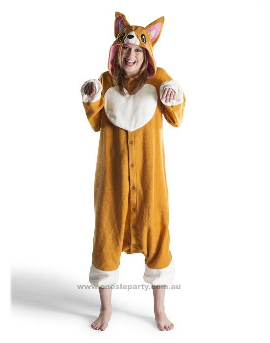 Adult Onesie - Corgi - Kigurumi Costume - Free Delivery