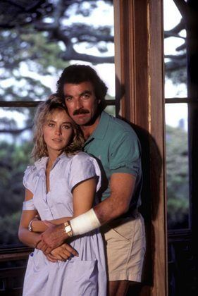Sharon Stone, with Tom Selleck, had a guest spot on 'Magnum' 1980 before she made it big