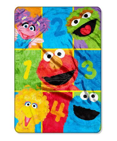 This Sesame Street Throw Blanket By Sesame Street Is Perfect! #zulilyfinds