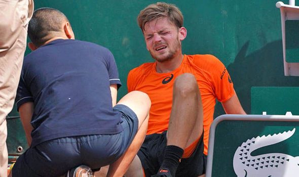 David Goffin injury: Coach expects 'consequences' from French Open chiefs