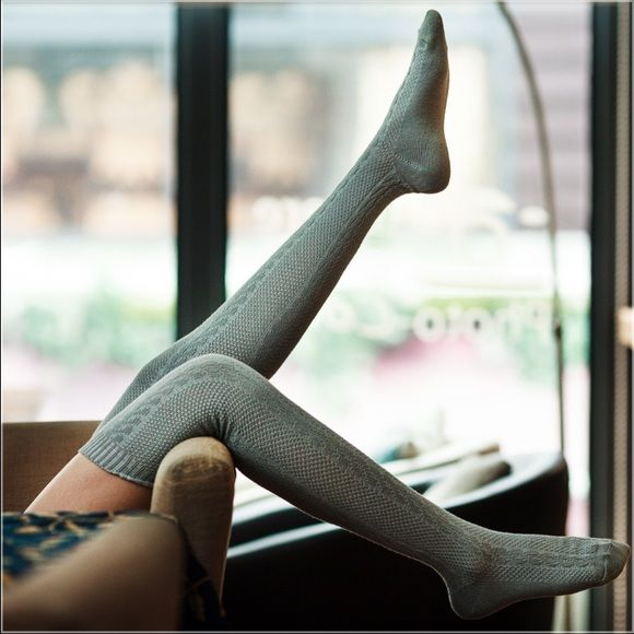 2 Pairs of 100% Cotton Knee High Socks Simplicity, sophistication, and style are combined with these Knee High Boot Socks! 100% cotton, so they can stretch out. These socks are a must have to your wardrobe (Available in Gray, Cream, Brown and Wine). These socks are non branded. Please leave me a comment with the colors you would like.  Accessories Hosiery & Socks
