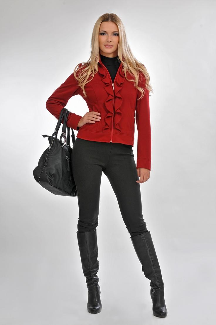 ruffled blazer #bellamode