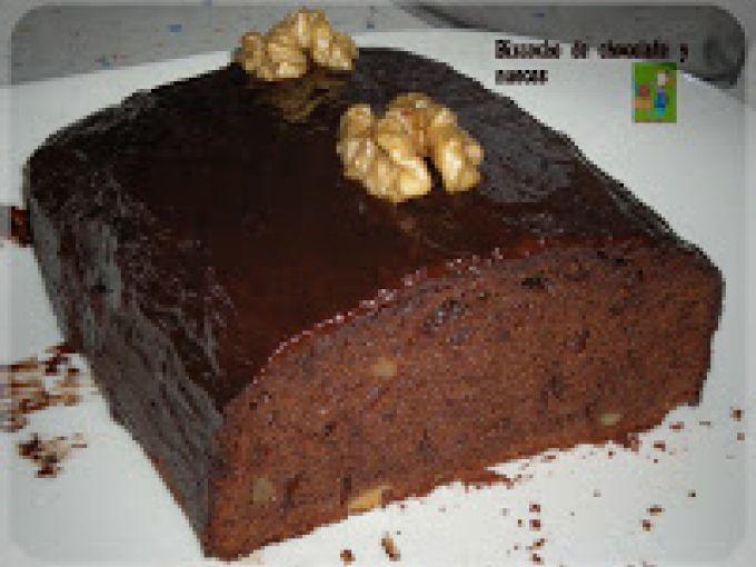 BIZCOCHO DE CHOCOLATE Y NUECES, foto 3