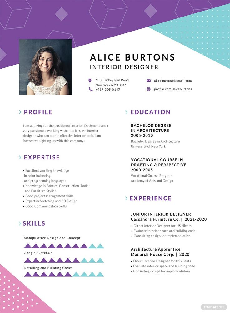 Free One Page Resume for Experienced in 2020 One page