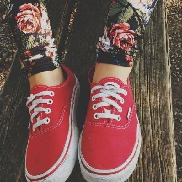 Authentic Red Vans ❤️ Authentic Red Vans® Men size: 7.5 and Women size: 9 ❤️ Worn only a few times, still good condition. Legit Vans® Product. ❤️ Beautiful shoes! Great Purchase  Vans Shoes Sneakers